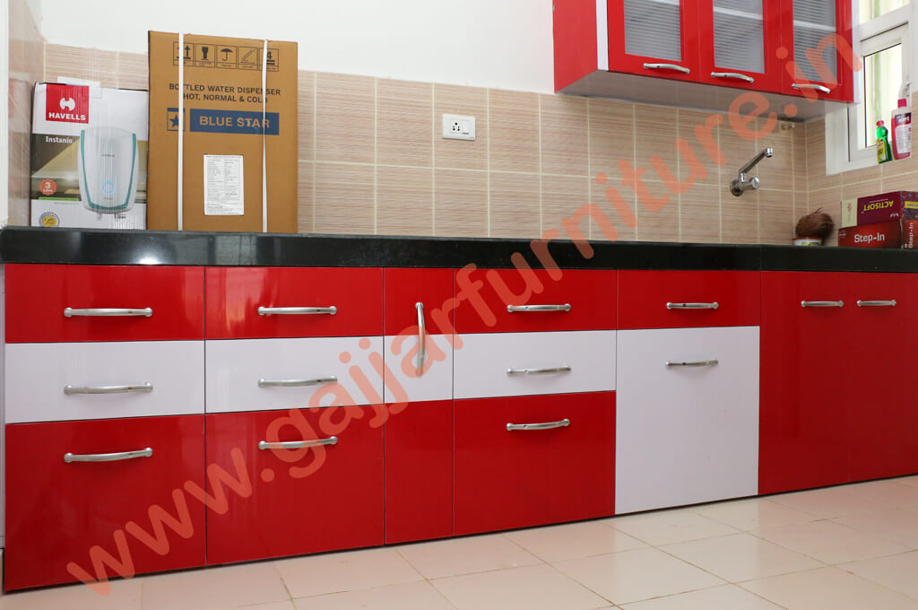 Modular Color Combination PVC Kitchen