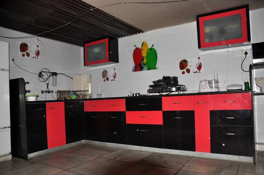 Modular Color Combination PVC Kitchen Part 91