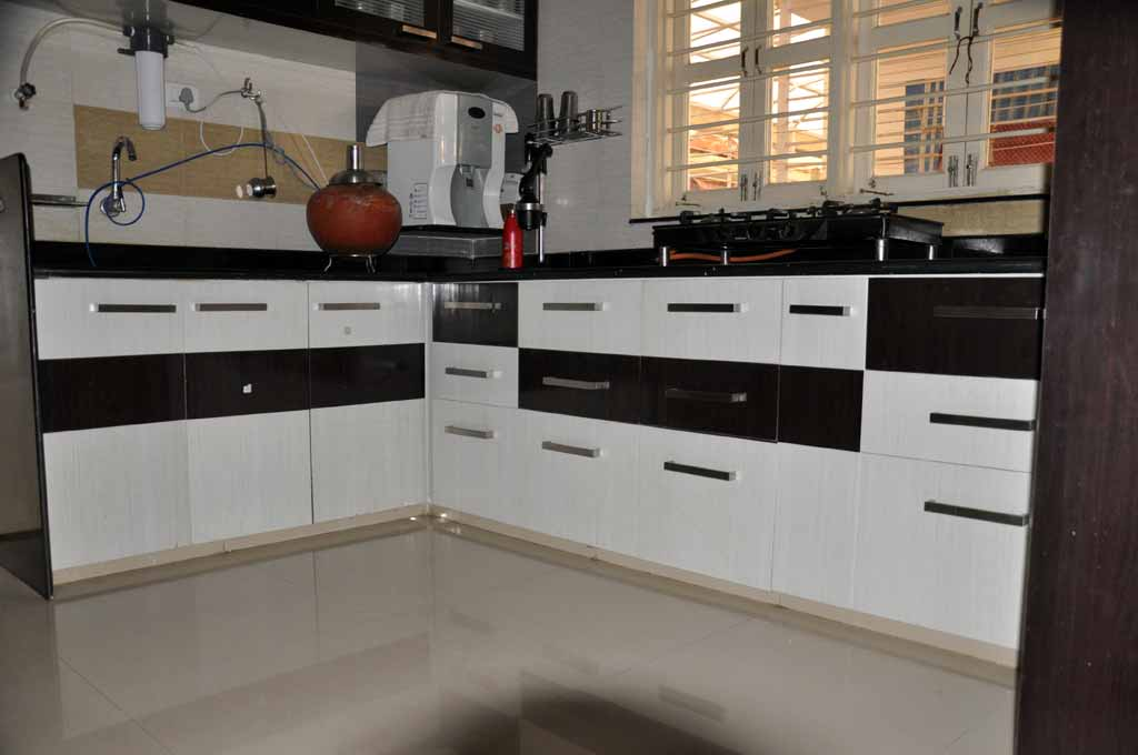 Modular Color Combination PVC Kitchen Part 44