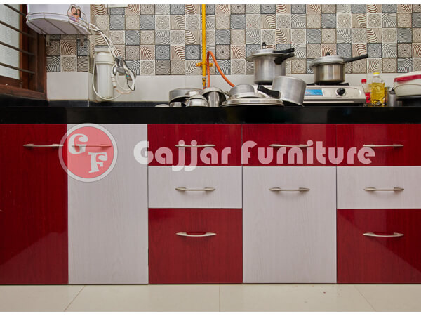 Delightful Modular Color Combination PVC Kitchen