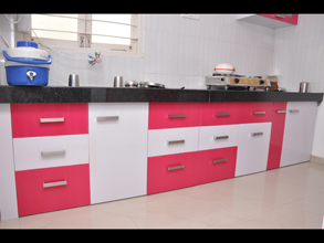 Awesome Modular Color Combination PVC Kitchen Part 5