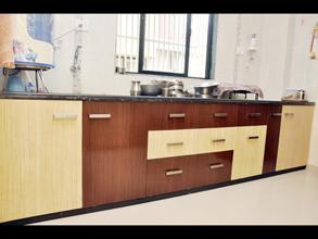 Modular Color Combination PVC Kitchen