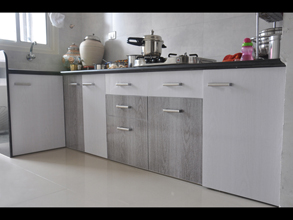 Merveilleux Modular Color Combination PVC Kitchen