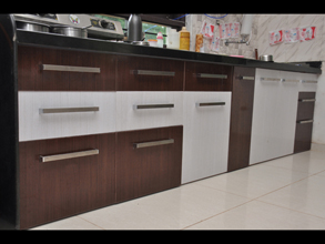 Superbe Modular Color Combination PVC Kitchen
